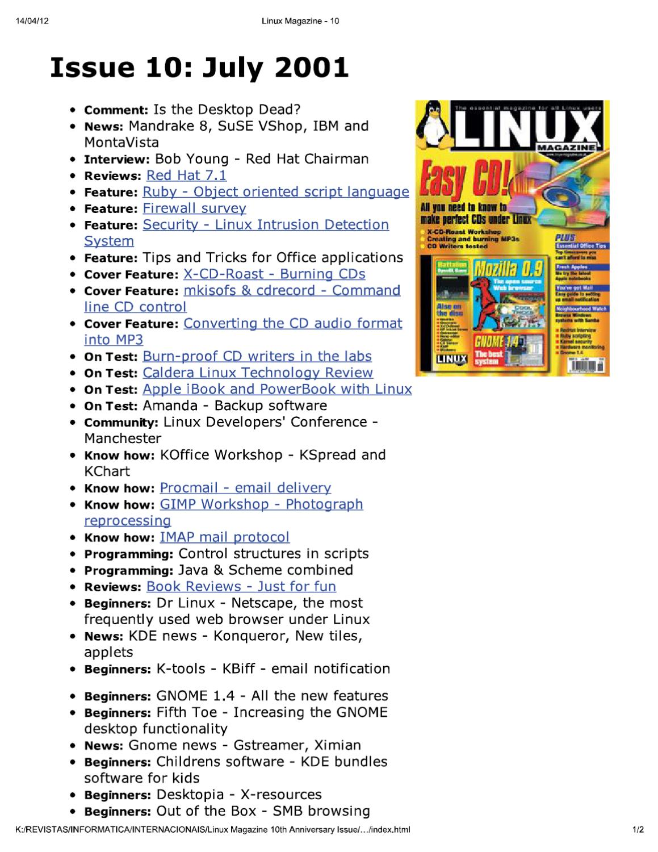 linux magazine uk 10 by Добавил Добавил - issuu