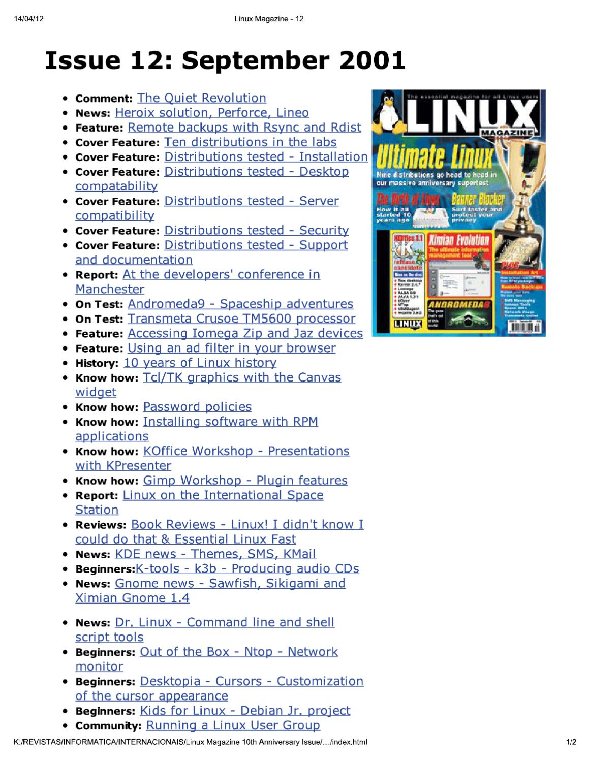 Linux Magazine Uk 12 By Issuu Wiring Diagram Hope This Helps How It Was Wired Thanks 2cool Attached