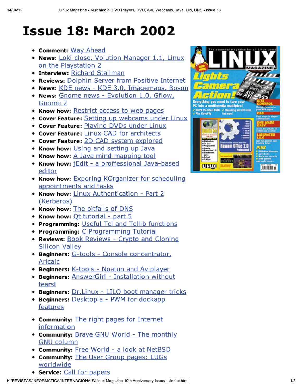 linux magazine 18 by Добавил Добавил - issuu