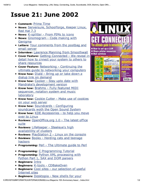 linux magazine uk 21 by Добавил Добавил - issuu