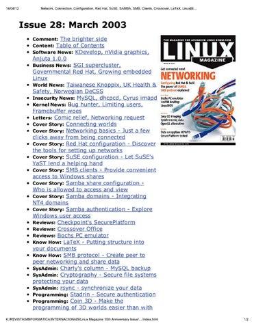 linux magazine uk 28 by Добавил Добавил - issuu
