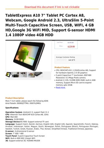 Creative ZiiO 8 GB 7-Inch Android 2 1 Wireless Entertainment Tablet