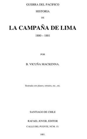 f206bf3754 Historia de la Campaña de Lima by rodolfo manzo - issuu