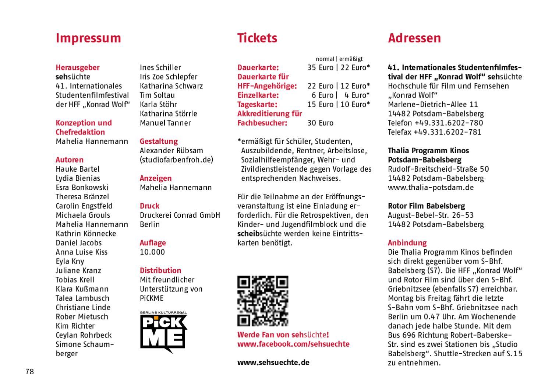 Sehsüchte Program 2012 by Sehsüchte - issuu