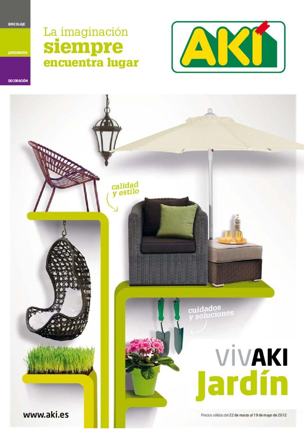 Cat logo aki de muebles de jard n 2012 by milyuncatalogos for Muebles jardin aki