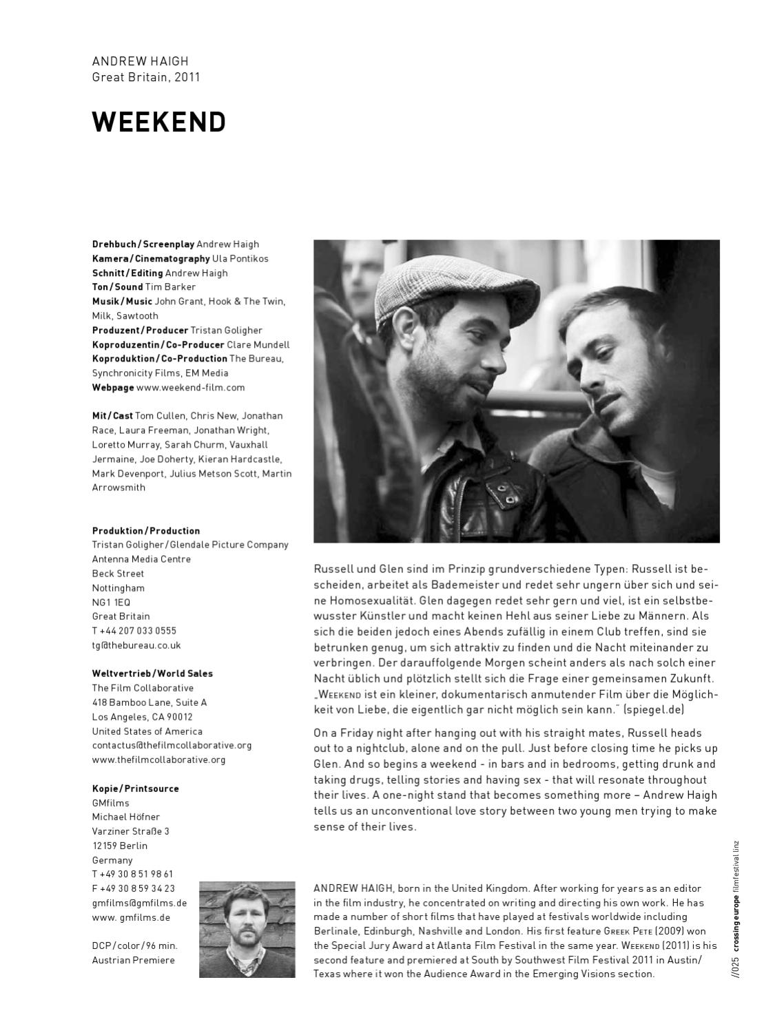 2012 FESTIVAL CATALOG CROSSING EUROPE by Crossing Europe