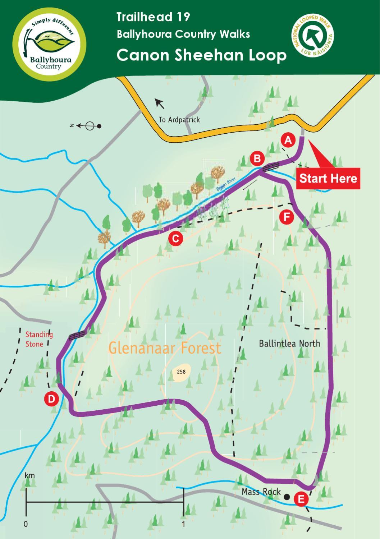 canon sheehan loop walk map by fergal somers