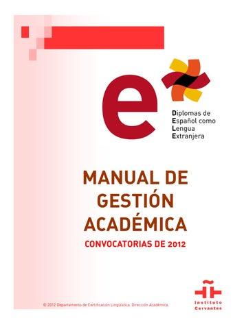Manual De Gestión Académica Dele 2012 By Ramón Parrondo Issuu