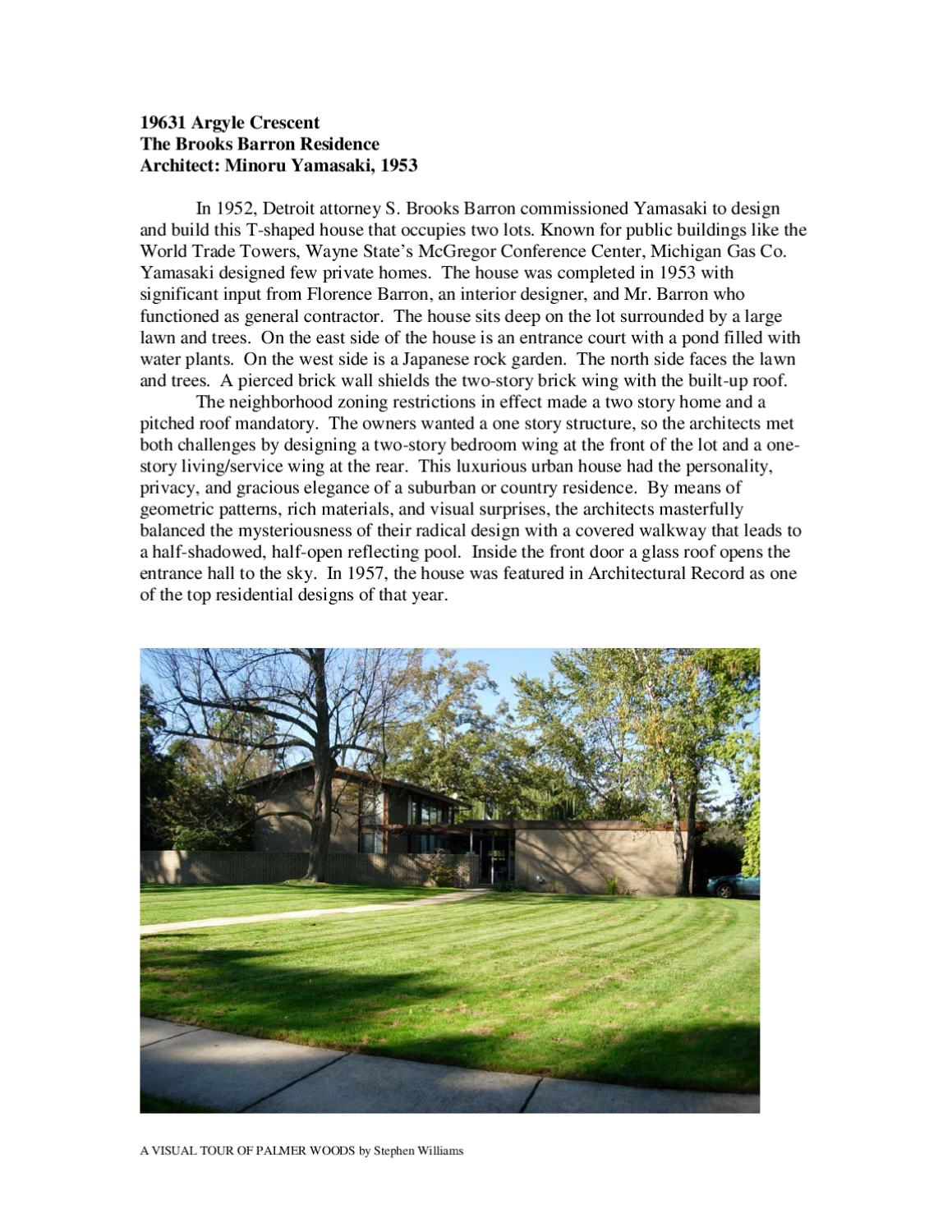 Palmer Woods Walking Tour by Kim Pollack - issuu