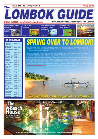 dc23437f9290f The Lombok Guide Issue 113 by The Lombok Guide - issuu