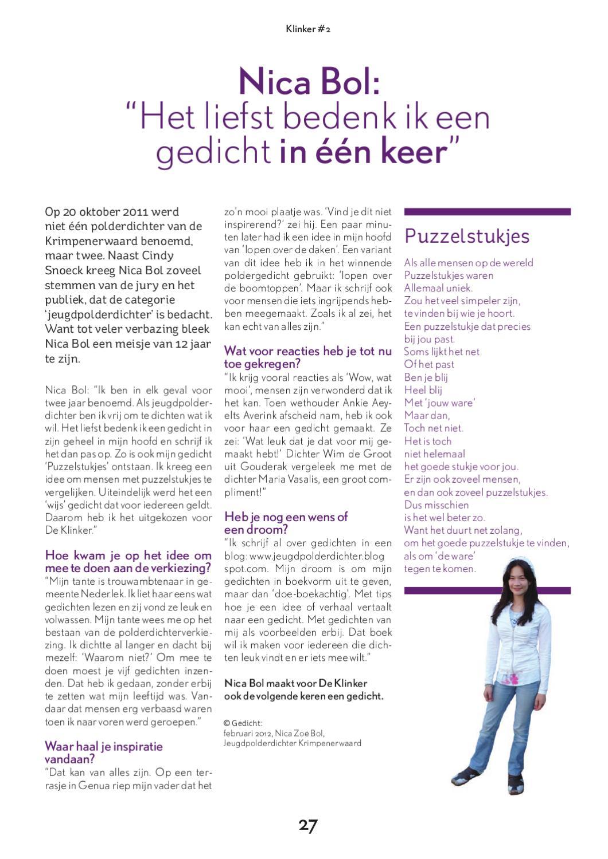 Magazine De Klinker By Gemeente Krimpen Aan Den Ijssel Issuu