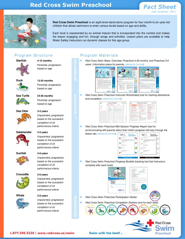 red cross swim levels preschool cross learn to swim lesson program 2012 lr by shawn 881