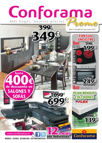 Conforama catalogo folleto hogar 1 mayo 2012 by - Conforama sevilla catalogo ...