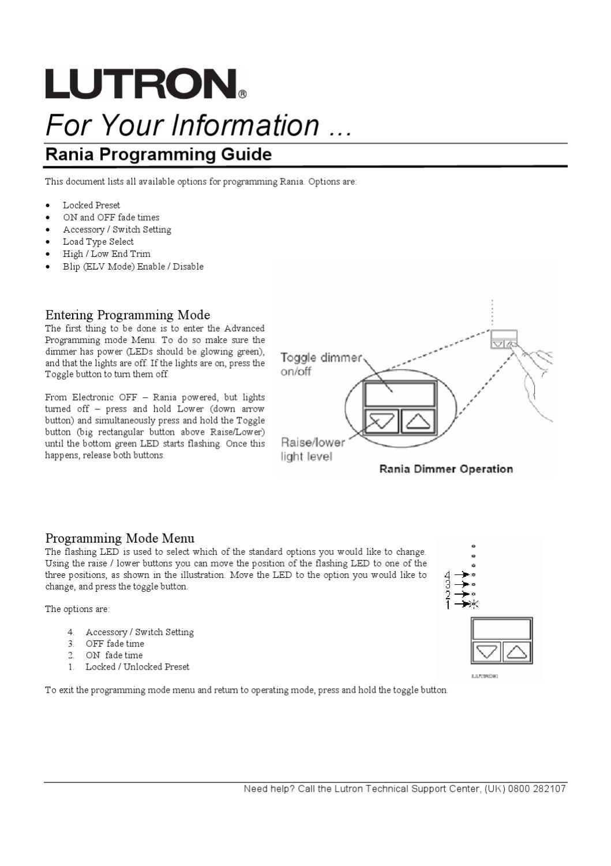 Lutron Rania Dimmer Wiring Diagram Quick Start Guide Of Flashing Led Lights Programming By Chris Horridge Issuu Rh Com Leviton Switch Light