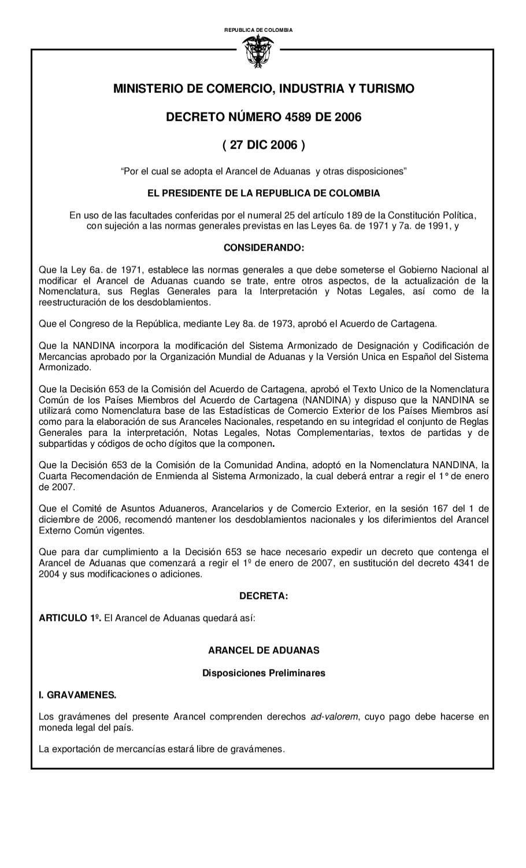 Arancel de Aduanas by Semillero de Investigación Laissez Faire - issuu