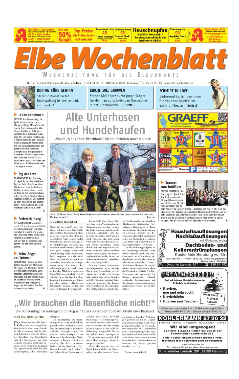 Elbvororte KW16 by Elbe Wochenblatt Verlagsgesellschaft mbH & Co