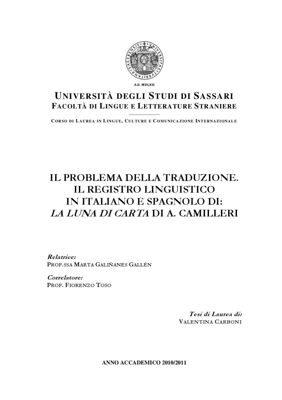 Il Problema Della Traduzione Il Registro Linguistico In