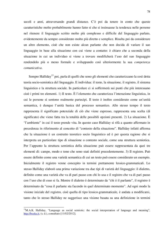 Il Problema Della Traduzione Il Registro Linguistico In Italiano E