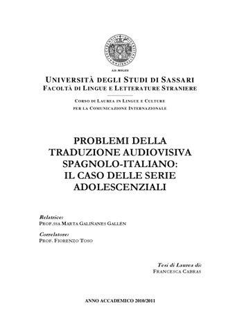 Problemi di traduzione audiovisiva spagnolo-italiano  il caso delle ... 62060c1cc595