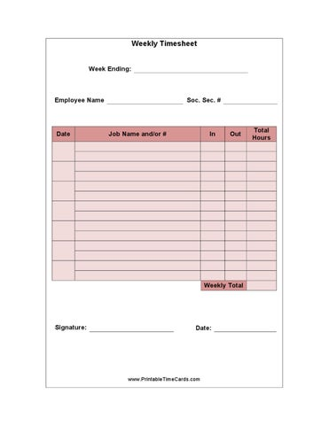 Time Card Template Download By Pharma Student Issuu