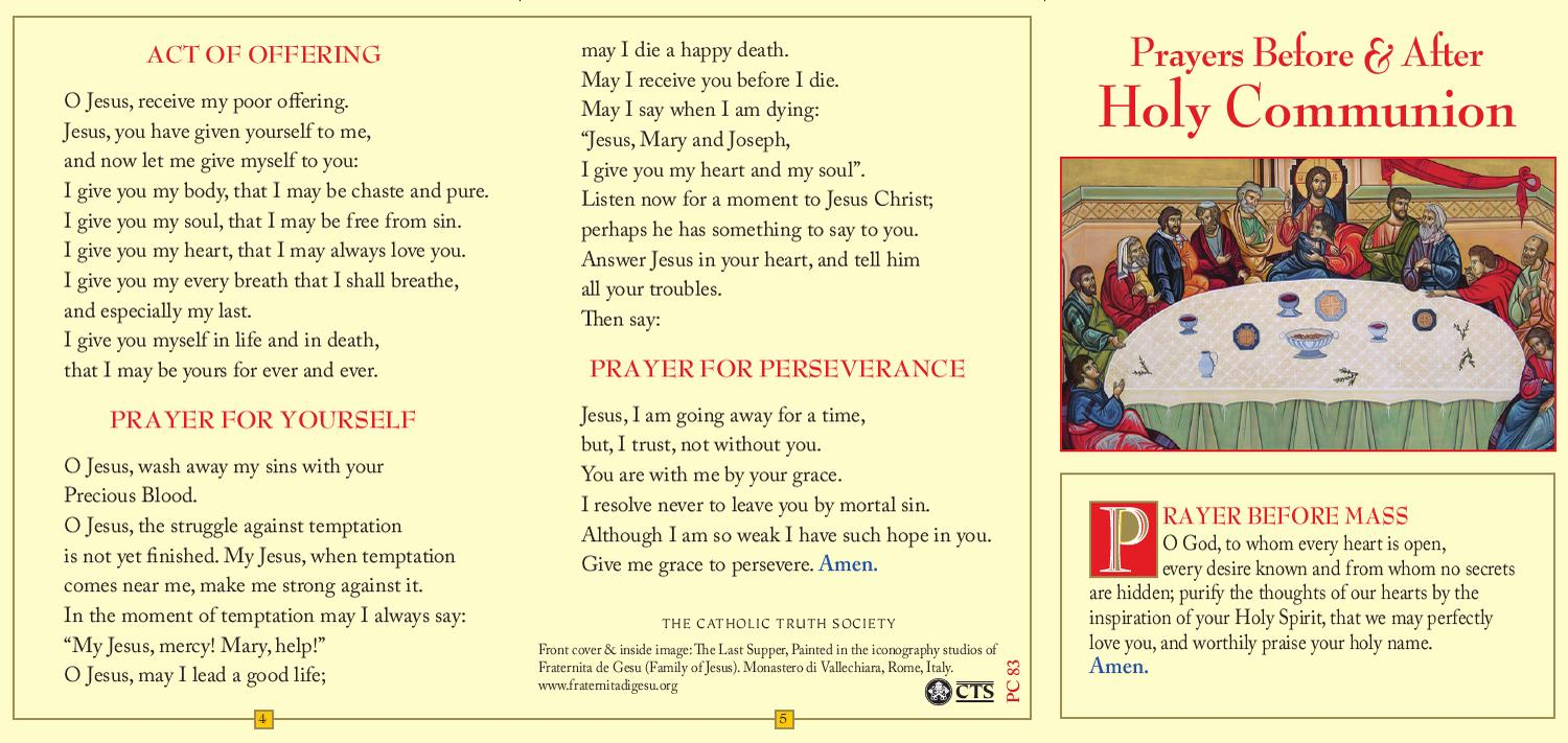 Pc 83 prayers before after communion prayer card by catholic truth pc 83 prayers before after communion prayer card by catholic truth society issuu thecheapjerseys Gallery