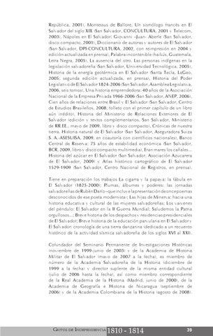 Gritos De Independencia By Ministerio De Relaciones Exteriores De El