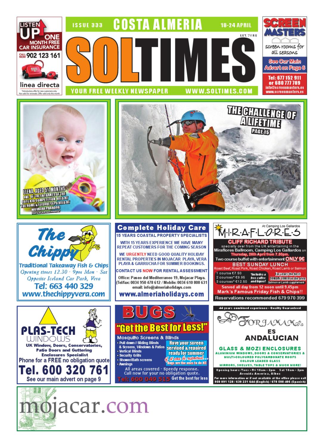 Sol Times Newspaper Issue 333 Costa Almeria Edition By Nigel  # Muebles Anticrisis Fitness