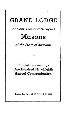 1979 proceedings grand lodge of missouri by missouri freemasons page 1 m4hsunfo