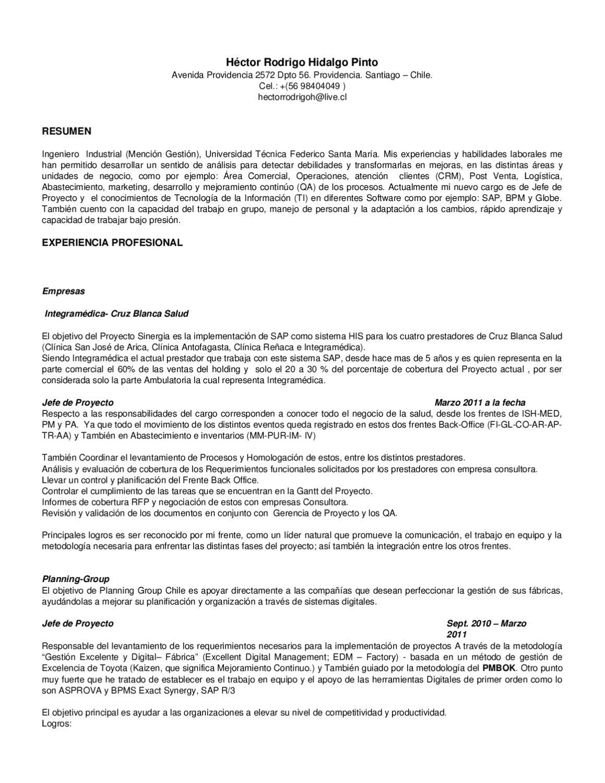 Curriculum Vitae by Rodrigo Hidalgo - issuu