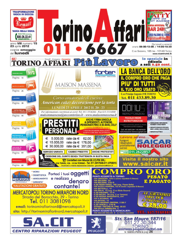 Torino affari ed.15 by Giuseppe Contegreco - issuu 99895199a0f