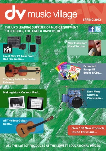 Dv music village catalogue spring 2012 by dv music village issuu spring 2012 the ukx20acx2122s leading supplier of music equipment to schools colleges universities fandeluxe Gallery
