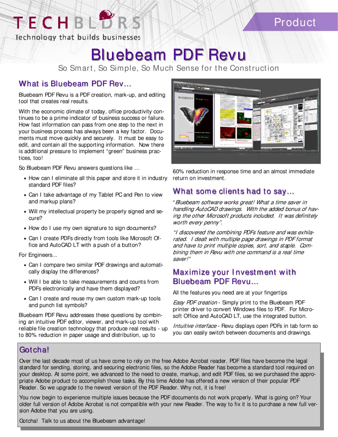 Bluebeam revu by Derek Brown - issuu
