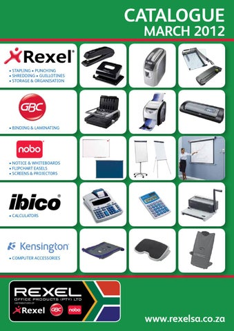 Rexel Office Products Catalogue 2012 by Tim Jones - issuu
