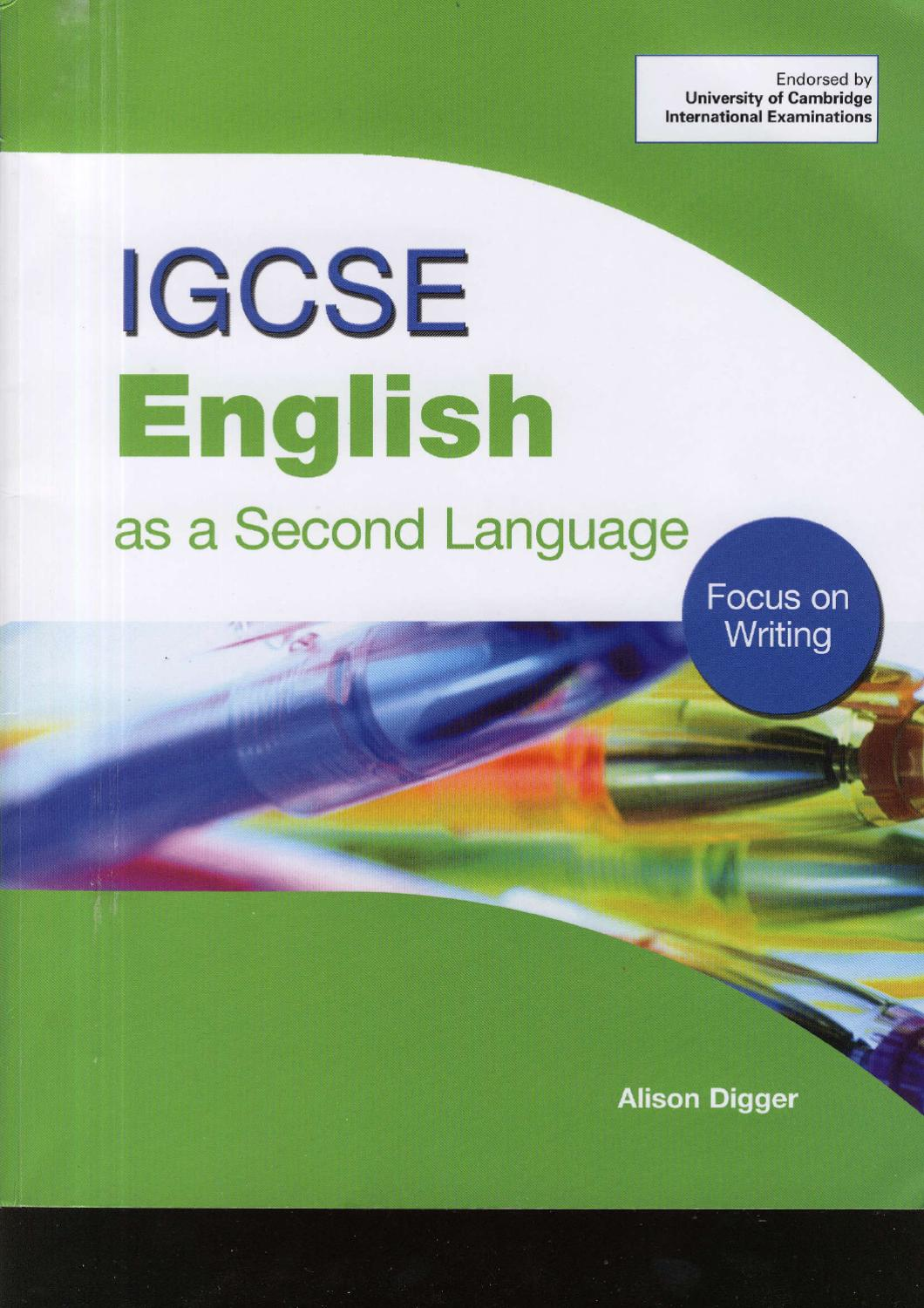 IGCSE ENGLISH AS A SECOND LANGUAJE