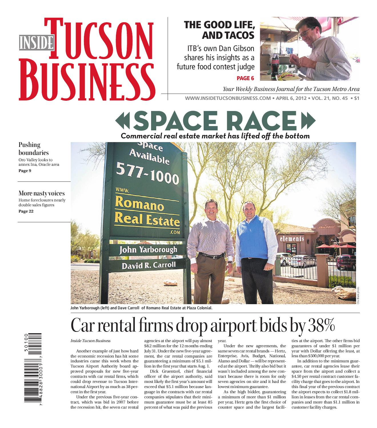 Inside Tucson Business 04 06 12 by Territorial Newspapers issuu