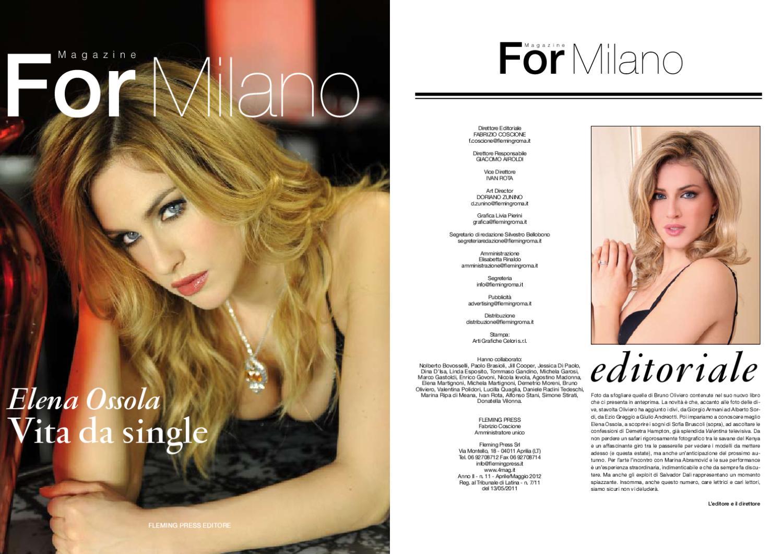 Elena Ossola Calendario.For Milano Aprile 2012 By 4mag Magazine Issuu