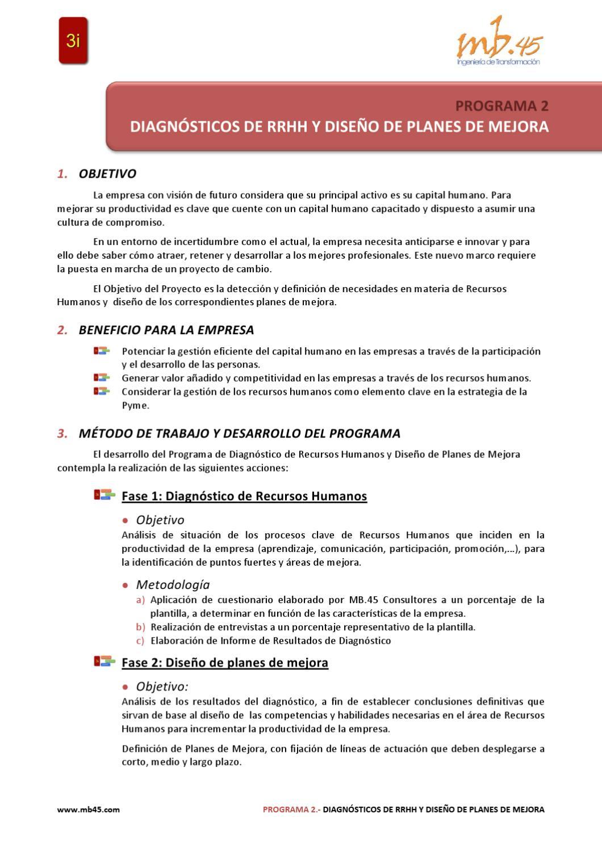 Diagnósticos de Recursos Humanos y Diseño de Planes de Mejora by MB ...