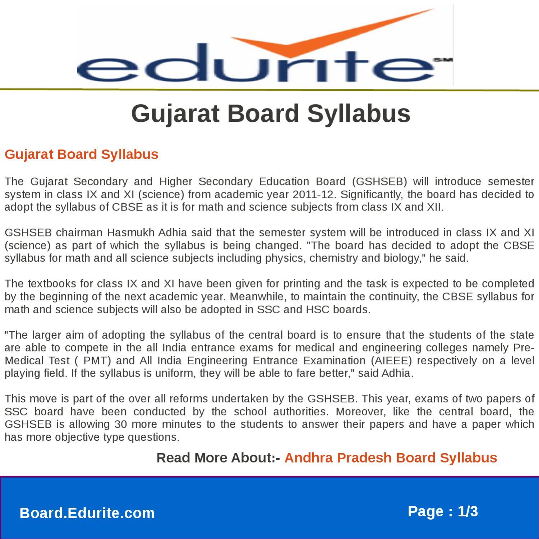 Gujarat Board Syllabus by gaurav saini - issuu