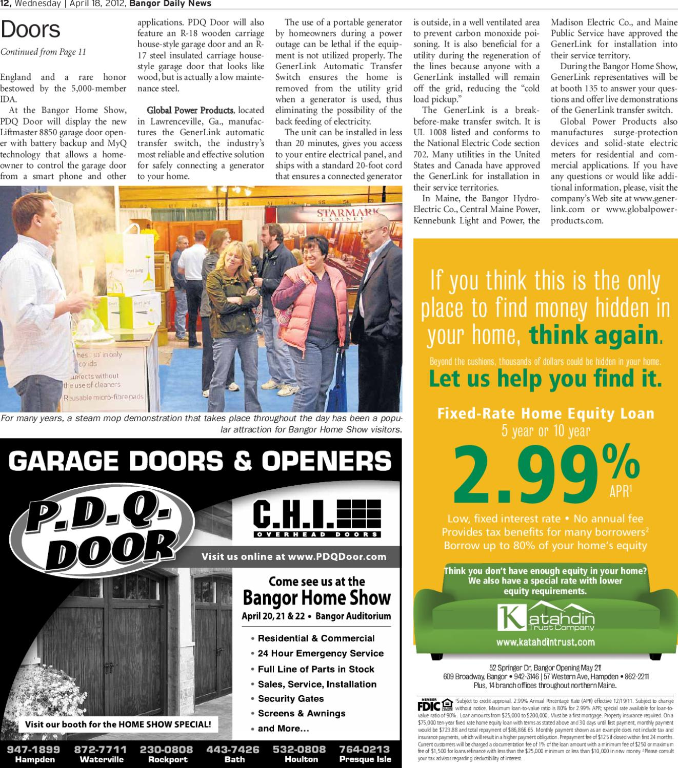 sc 1 st  Issuu & The 42nd Annual Bangor Home Show by Bangor Daily News - issuu
