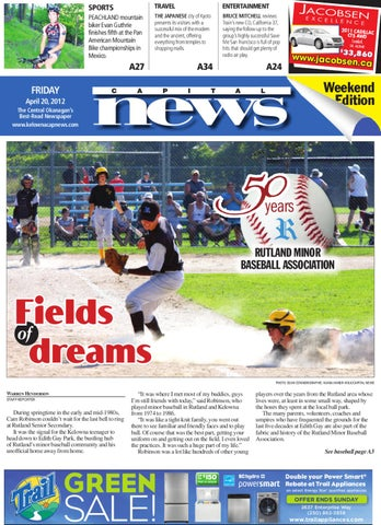 Kelowna Capital News, April 20, 2012 by Black Press Media