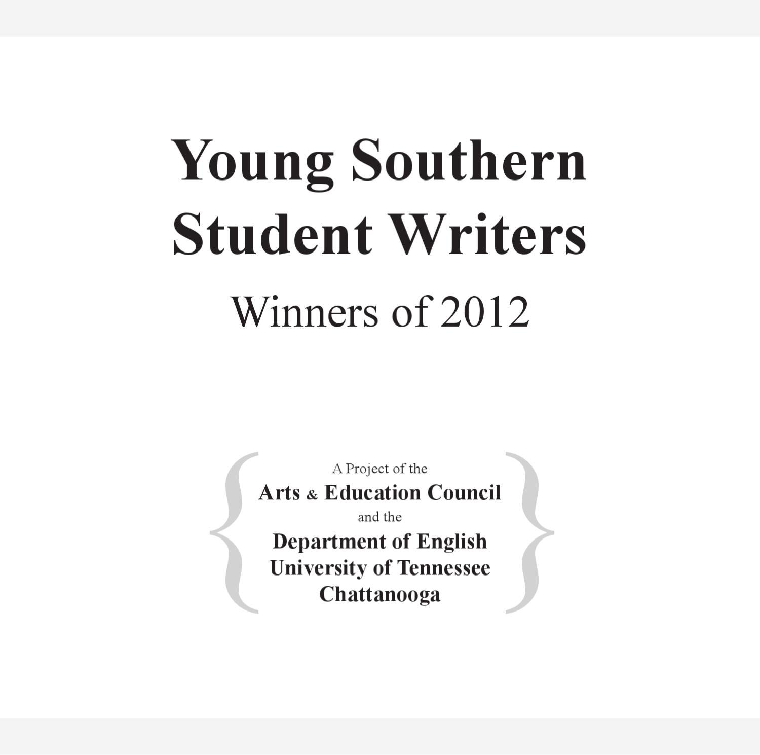 4d78ab06e4cd Young Southern Student Writer 2012 by Brewer Media Group - issuu