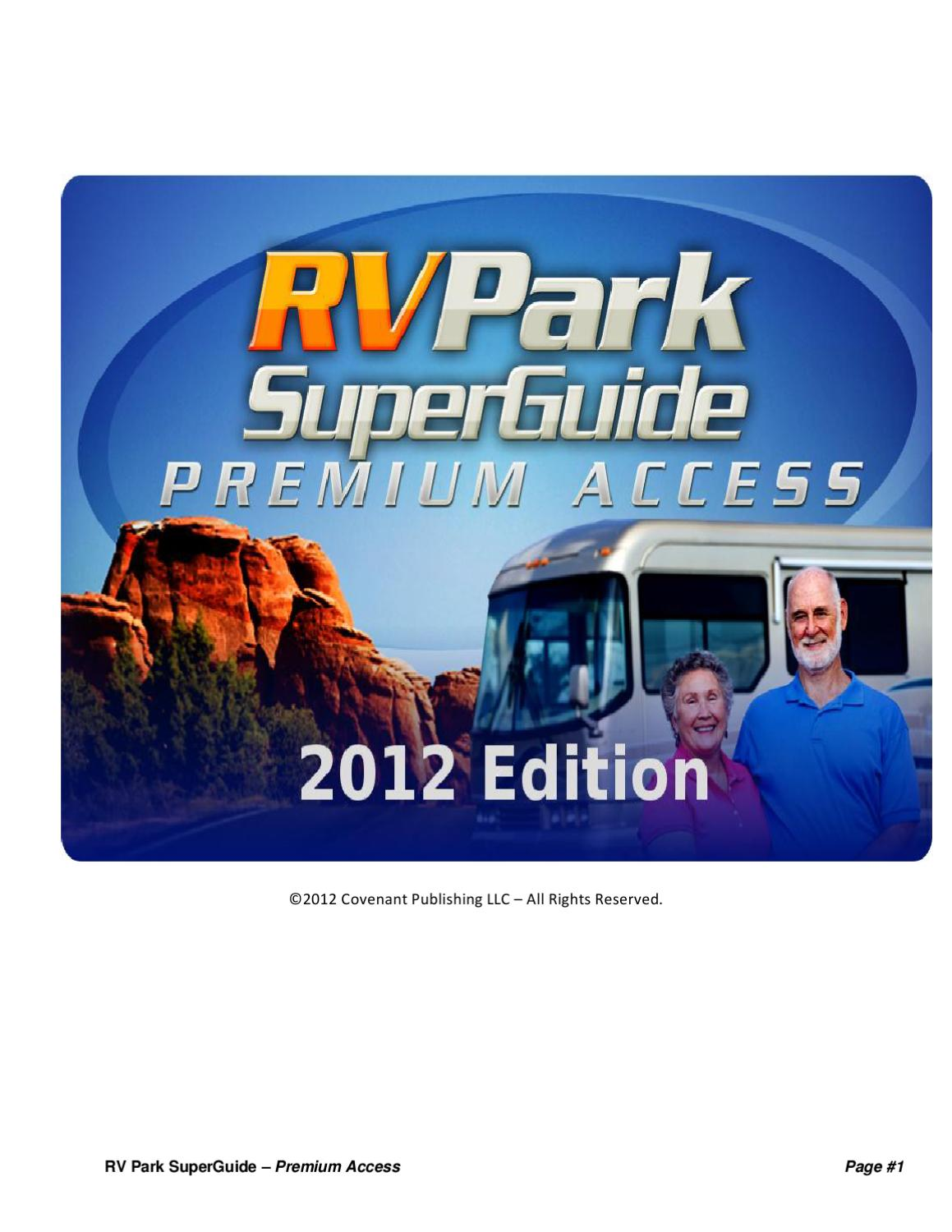 RV Park SuperGuide By Andrea William