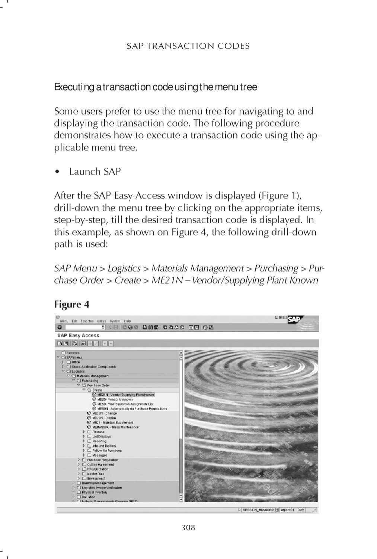 SAP Tcods