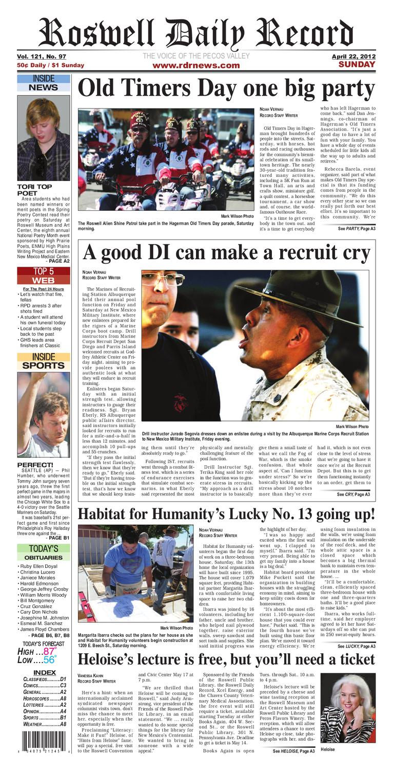 14b4693e 04-22-12 rdr news by Roswell Daily Record - issuu
