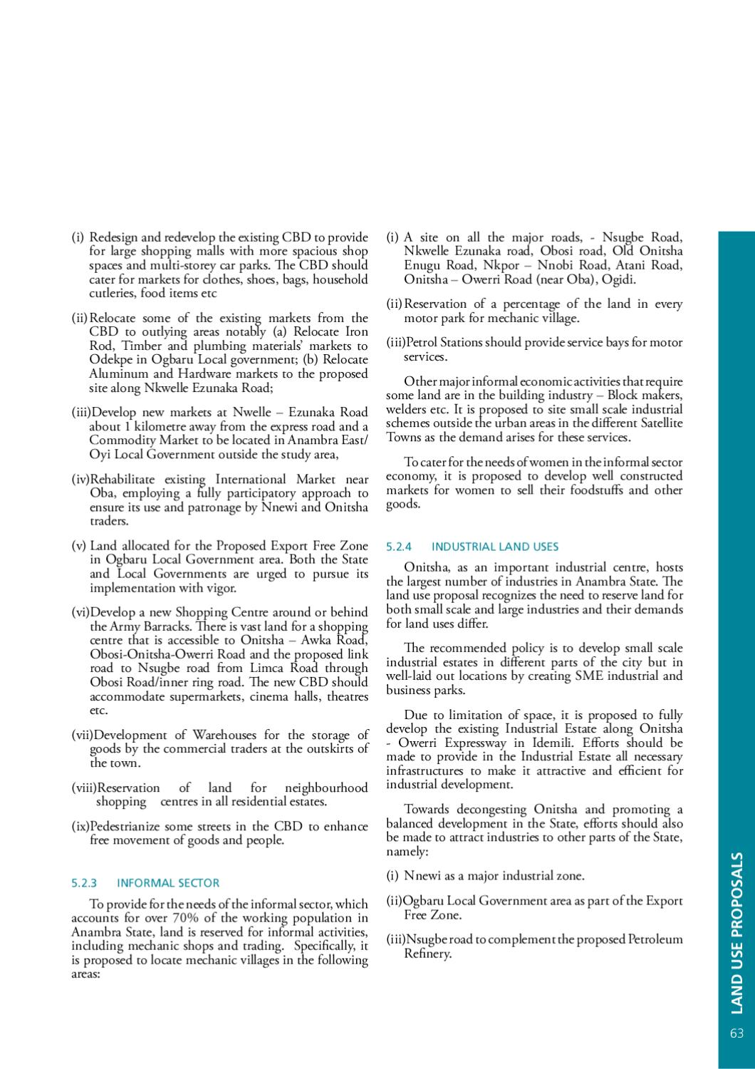 STRUCTURE PLAN FOR ONITSHA AND SATELLITE TOWNS by UN-Habitat - issuu
