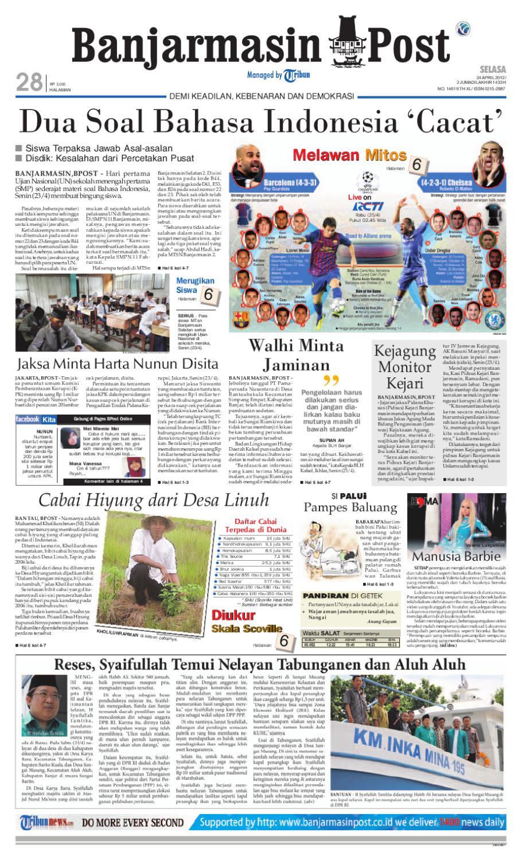 Banjarmasin Post Edisi Cetak Selasa 24 April 2012 Fcenter Meja Makan Dt Sienna Dan Dc Danish Jabodetabek By Issuu