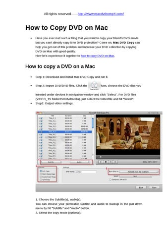 how to copy a dvd on macbook pro