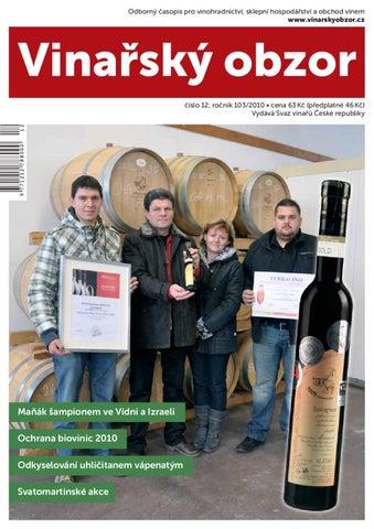 Vinařský obzor 12 2010 by Časopis Vinařský obzor - issuu 2da6a3966a5