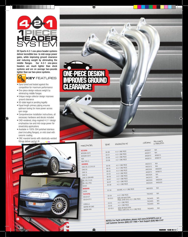 1-piece DC SPORTS 4-2-1 Ceramic Header for Acura 94-99 Integra GSR AHC6507