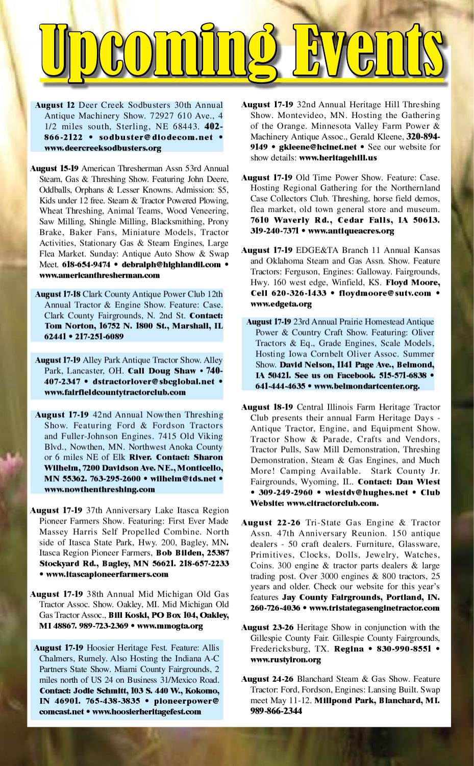 2012 Antique Tractor Guide Ad Pages by Heartland
